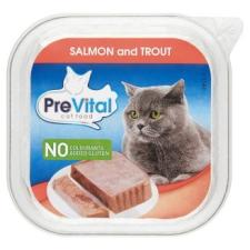 PreVital teljes értékű állateledel felnőtt macskák számára lazaccal és pisztránggal 100 g macskaeledel
