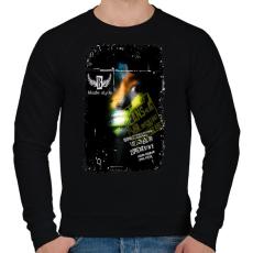 PRINTFASHION 100% - Férfi pulóver - Fekete