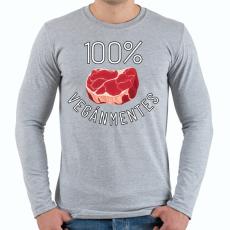 PRINTFASHION 100% VEGÁNMENTES - Férfi hosszú ujjú póló - Sport szürke