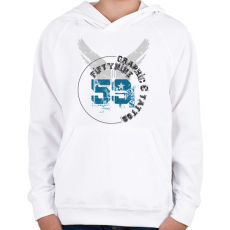 PRINTFASHION 59t&g-01.png - Gyerek kapucnis pulóver - Fehér