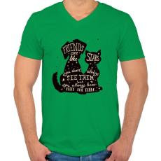 PRINTFASHION A barátok.. - Férfi V-nyakú póló - Zöld