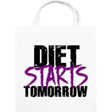 PRINTFASHION A diéta holnaptól kezdődik - Vászontáska - Fehér
