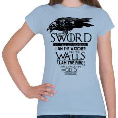 PRINTFASHION A Fal és az Éjjeli őrség - Női póló - Világoskék