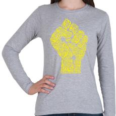 PRINTFASHION A forradalom keze - Női hosszú ujjú póló - Sport szürke