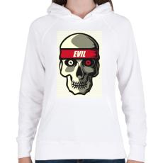 PRINTFASHION A gonosz - Női kapucnis pulóver - Fehér