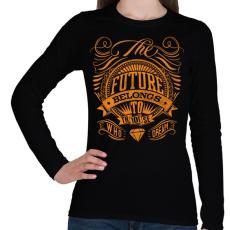 PRINTFASHION A jövő - Női hosszú ujjú póló - Fekete