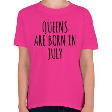 PRINTFASHION A királynők júliusban születnek - Gyerek póló - Helikónia