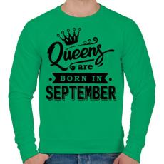 PRINTFASHION A királynők szeptemberben születnek - Férfi pulóver - Zöld