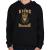 PRINTFASHION A királyok novemberben születtek - Gyerek kapucnis pulóver - Fekete