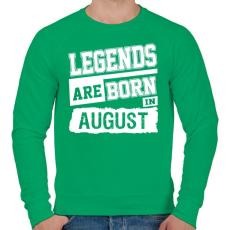 PRINTFASHION A legendák augusztusban születnek - Férfi pulóver - Zöld