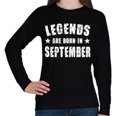 PRINTFASHION A legendák szeptemberben születtek - Női pulóver - Fekete