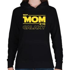 PRINTFASHION A legjobb anya a Galaxisban - Női kapucnis pulóver - Fekete
