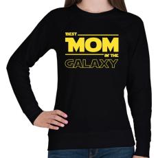 PRINTFASHION A legjobb anya a Galaxisban - Női pulóver - Fekete