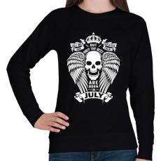 PRINTFASHION A legjobbak júliusban születtek - Női pulóver - Fekete