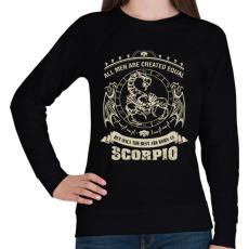 PRINTFASHION A legjobbak skorpiónak születtek - Női pulóver - Fekete