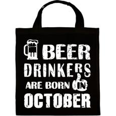 PRINTFASHION A sörivók októberben születtek - Vászontáska - Fekete