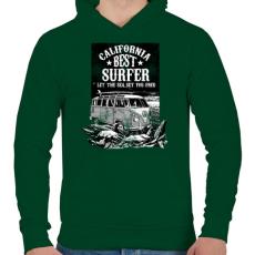 PRINTFASHION A tenger felszabadít  - Férfi kapucnis pulóver - Sötétzöld