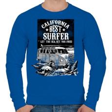 PRINTFASHION A tenger felszabadít  - Férfi pulóver - Királykék