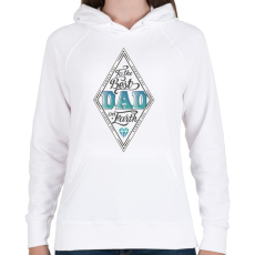 PRINTFASHION A világ legjobb apukájának - Női kapucnis pulóver - Fehér