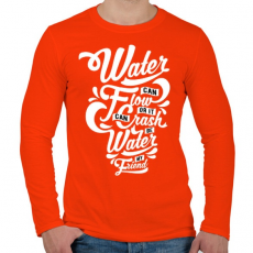 PRINTFASHION A víz a barátom - Férfi hosszú ujjú póló - Narancs