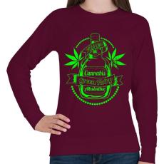 PRINTFASHION A zöld tündér itala - Női pulóver - Bordó