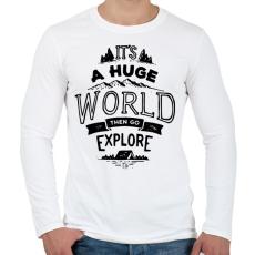 PRINTFASHION Adventure - Férfi hosszú ujjú póló - Fehér