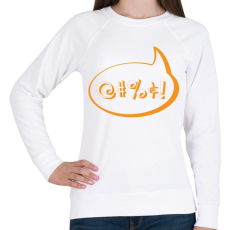 PRINTFASHION agrrr-orange - Női pulóver - Fehér