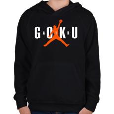PRINTFASHION AIR GOKU - Gyerek kapucnis pulóver - Fekete