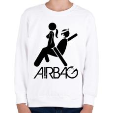 PRINTFASHION Airbag - Gyerek pulóver - Fehér