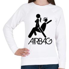 PRINTFASHION Airbag - Női pulóver - Fehér