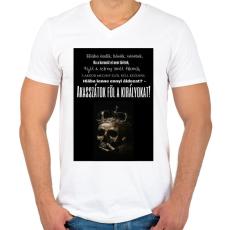 PRINTFASHION Akasszátok föl.png - Férfi V-nyakú póló - Fehér
