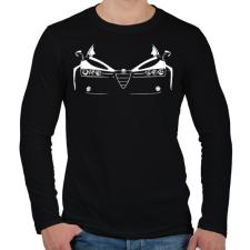 PRINTFASHION ALFA - Férfi hosszú ujjú póló - Fekete férfi póló