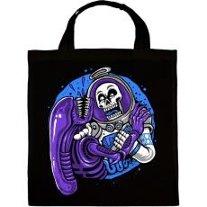 PRINTFASHION Alien és űrhajós - Vászontáska - Fekete