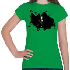 PRINTFASHION Alien  - Női póló - Zöld