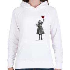 PRINTFASHION Alkotás - Női kapucnis pulóver - Fehér