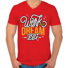 PRINTFASHION Álmodj nagyot! - Férfi V-nyakú póló - Piros
