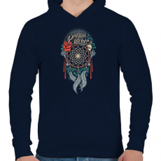 PRINTFASHION Álomcsapda - Férfi kapucnis pulóver - Sötétkék