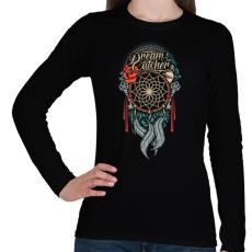 PRINTFASHION Álomcsapda - Női hosszú ujjú póló - Fekete