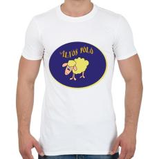 PRINTFASHION Alvós póló - Férfi póló - Fehér
