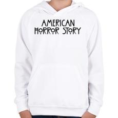 PRINTFASHION American Horror Story - Gyerek kapucnis pulóver - Fehér