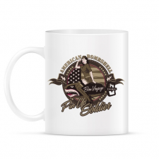 PRINTFASHION Amerikai bombázó - Bögre - Fehér ajándéktárgy