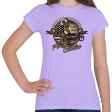 PRINTFASHION Amerikai bombázó - Női póló - Viola