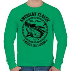 PRINTFASHION Amerikai klasszikus - Férfi pulóver - Zöld
