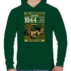 PRINTFASHION Amerikai legenda - Férfi kapucnis pulóver - Sötétzöld