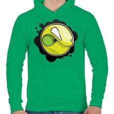 PRINTFASHION Angryball - Férfi kapucnis pulóver - Zöld