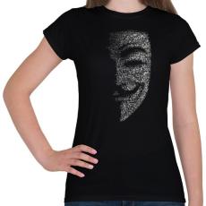 PRINTFASHION Anonymus (Fekete) - Női póló - Fekete