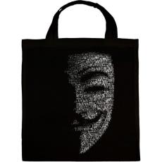 PRINTFASHION Anonymus (Fekete) - Vászontáska - Fekete