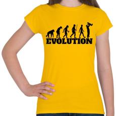 PRINTFASHION APA evolúció - Női póló - Sárga