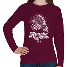 PRINTFASHION Apacs - Női pulóver - Bordó