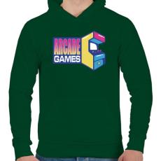 PRINTFASHION Arcade Games - Férfi kapucnis pulóver - Sötétzöld